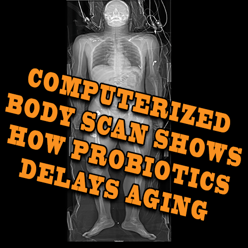 COMPUTERIZED BODY SCAN SHOWS HOW PROBIOTICS DELAYS AGING