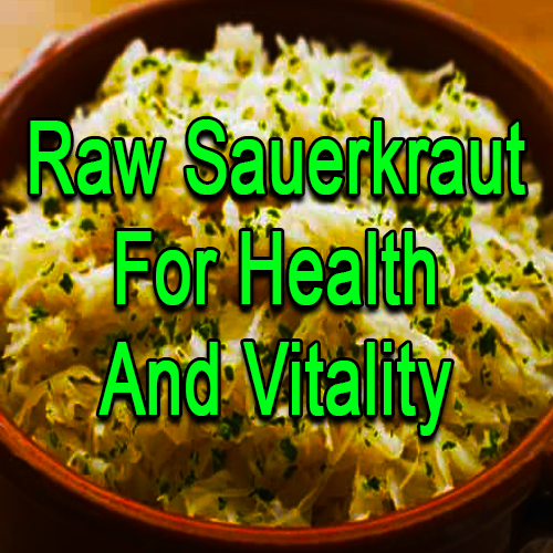 Raw Sauerkraut For Health And Vitality