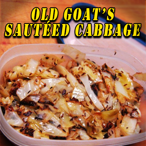 old goat's sautteed cabbagee