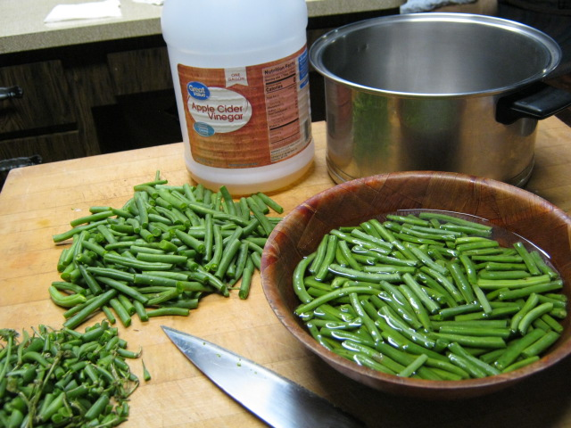 Wash the green beans