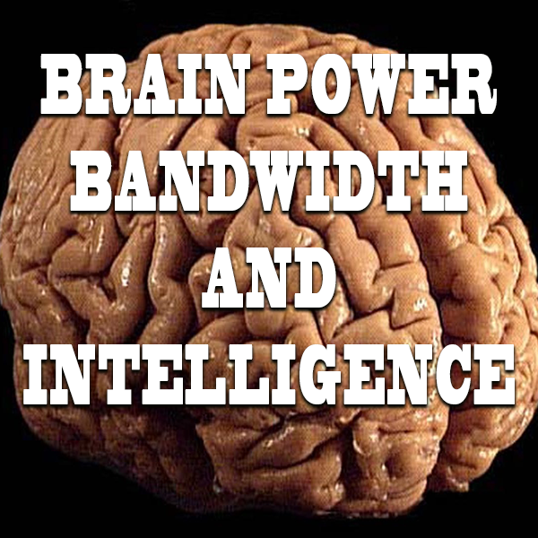 BRAIN POWER, BANDWIDTH AND INTELLIGENCE