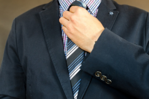 necktie may be causing brain damage