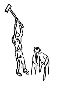 Hammer swinging by the healthy old guru