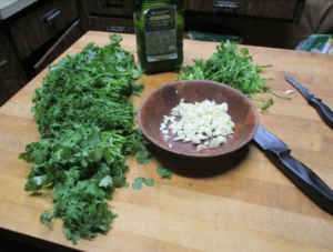 chimichurri sauce ingredients diced